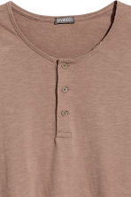 T-shirt with buttons - Light brown - Men | H&M CN 3